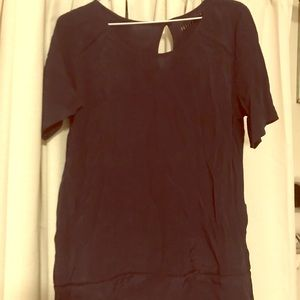 Navy blue blouse NWT
